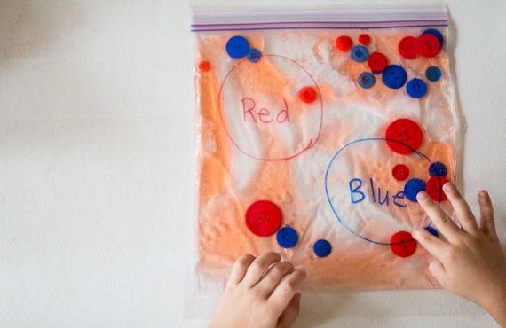 「密實袋+水」‧教幼兒學「分類」