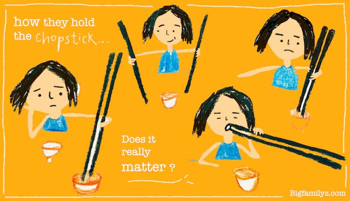 「拿筷子」好方法.小朋友「獨特版」
