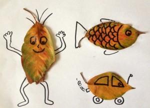 幼兒樹葉drawing.學觀察