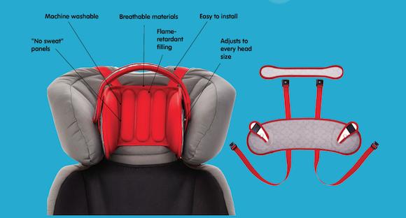兒童「護頭枕」・坐車「安全甜睡」