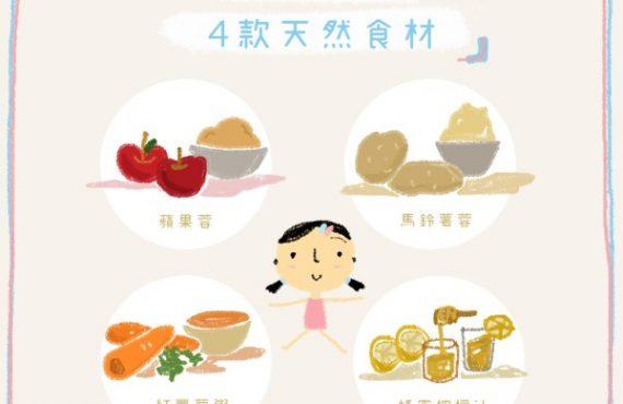 幼兒止瀉 · 4款天然食材
