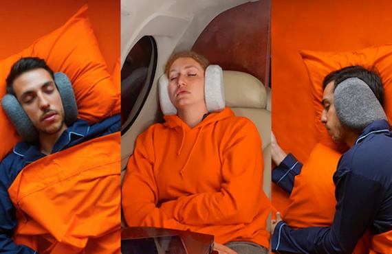 「隔音頸枕」舒服+舒壓