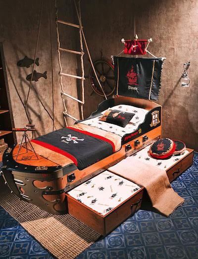 「海盜」兒童床+「鯊魚」拍檔